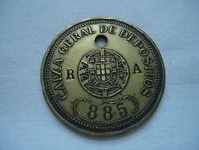 PORTUGAL PORTUGUESE CAIXA GERAL DEPOSITOS BANK TOKEN RA 885 LOOK SCANS