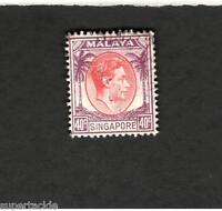 1948 Malaya Singapore SCOTT #16 KING GEORGE VI Θ used stamp