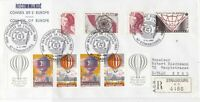France Council of Europe Strasbourg Special Regd Balloons+ Stamps Cover Rf 31063