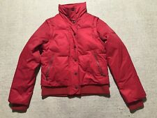 DKNY Women's Red Puffer Jacket SIZE XS Very Warm Convertible Vest #J7
