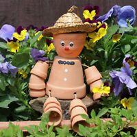 Terracotta Pot Man Hanging Garden Ornament Mothers Day Gardening Gift Idea