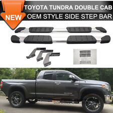 Fits 07-19 Toyota Tundra Aluminum Side Step Bar Rail Running Board Double Cab