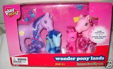 #9194 NRFB Fake My Little Pony Wonder Pony Lands Horse Family Pony Set