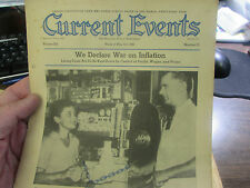 CURRENT EVENTS, THE NATIONAL SCHOOL NEWSPAPER -5/4/42  DECLARE WAR ON INFLATION