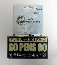 "Pittsburgh Penguins ""Go Pens Go"" License Plate Ornament 6ct Lot"