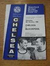 09/10/1965 Chelsea v Blackpool  (Team Changes). Item In very good condition unle