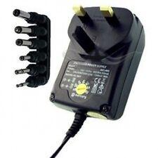 600mA Universal AC/DC power supply adapter 3V 4.5V 6V 7.5V 9V 12V UK 3 pin