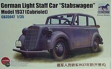 Bronco 1/35 German Staff Car Stabswagen 1937 Cabriolet Model Kit 35047
