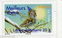 FRANCE 2007, timbre 4121, AUTOADHESIF 141, MEILLEURS VOEUX, OISEAU, neuf**, MNH