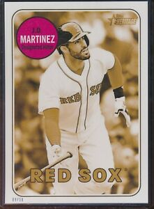 2018 Topps Heritage High Number J.D. Martinez 5x7 Gold Action Image /10