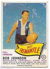 1966 Scanlens (36) Bob JOHNSON ( Die Cut ) East Fremantle :::