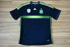 SPAIN NATIONAL TEAM FOOTBALL SHIRT 2013-2015 AWAY JERSEY SIZE ADULT XLARGE BLACK