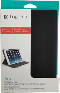 Logitech Slim UltraThin Folio Protective Cover iPad Mini 1 2 3 Gen Retina Case