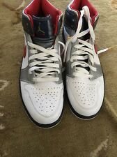 2008 Nike Air Jordan Retro 1 Size 11 ~ Olympic White Navy Blue Red USA