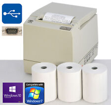NCR 7197 USB & RS-232 TICKET BONDRUCKER WinXP Win7 8 10 KASSENDRUCKER 3x ROLLS