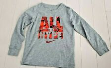 Nike Boy's Toddler Grey All The Hype Cotton Blend Shirt, 3 Yrs