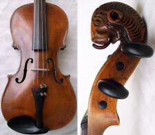 OLD GERMAN LIONHEAD VIOLIN - video VINTAGE ANTIQUE バイオリン скрипка 小提琴 027