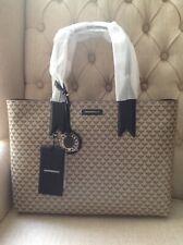Genuine Emporio Armani Brown Logo Designer Shopper Tote Bag New With Tags