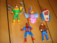 5 pc. Lot Spider-man 1995 Marvel McDonalds Happy Meal toys  Cake topper