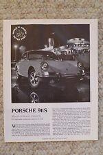 1967 Porsche 911S Coupe R&T Road Test Folder, Brochure REPRINT RARE Awesome L@@K