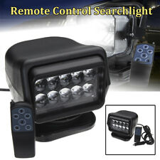 50W LED Wireless Remote Control Marine Boat Car Searchlight Rotated Spotlight US