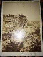 Photographie ROC AMADOUR, Vers 1880.
