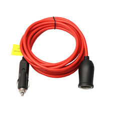 Car Charger 12V 24V Heavy Duty Extension Cord Cable Cigarette Lighter Plug