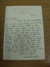 09/01/1984 Mauretania: Official Letter from Victor Harrower, requesting a copy o