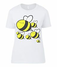 Loadsa Bees T-Shirt - Womens Funny Birthday Gift Present Novelty Graphic Cute