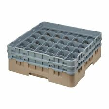 More details for cambro camrack beige 36 compartments - maxglass height 133mm - 143x500x500mm