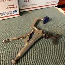 Petersen Vise Grip C Clamp Locking pliers. Made In Usa. Vintage. DeWitt.