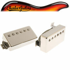 LINDY FRALIN PAF HUMBUCKING PICKUPS POLISHED NICKEL COVERS (LF43005)