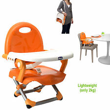 NEW CHICCO MANDERINO ORANGE POCKET SNACK PORTABLE BABY BOOSTER SEAT HIGHCHAIR