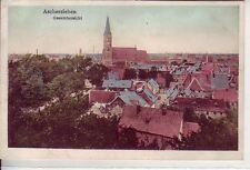 uralte AK Aschersleben  Bahnpoststempel Halle Hannover Zug