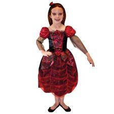 Costumi e travestimenti vestiti rossi per carnevale e teatro per bambine e ragazze Taglia 9-10 anni