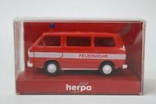 Herpa 4101 Volkswagen Bully-Bus Red Fire Vehicle 1/87 Scale HO Gauge Plastic E12