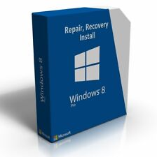 Windows 8 Professional 64 Bit Re-Install Restore Repair Boot Disc Recovery DVD