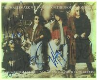 VAN HALEN HAND SIGNED ORIGINAL AUTOGRAPH PHOTO EDDIE ALEX MICHAEL SAMMY HAGAR