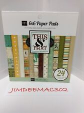 """ECHO PARK 6x6 """"THIS & THAT CHARMING"""" PAPER PAD 24 DOUBLE SIDED SHEETS"""
