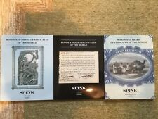 Three World Scripophily Auction Catalogs - Spink 2014