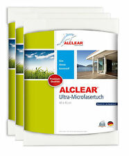 ALCLEAR® 3-er Set Ultra-Microfasertuch FENSTERTUCH WUNDERTUCH weiß 60x45 950002