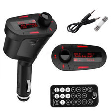 Wireless Fm Transmitter Modulator Usb Sd Mmc Lcd Remote Car Kit Mp3 Player Red