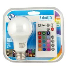 ExtraStar Colour Changing Bulb E27 LED RGB+W Mood Light 9W = 60W Remote Control