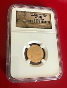 2009 D LINCOLN CENT NGC MS69 RD SMS PROFESSIONAL LIFE PENNY TOP POP