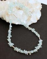 Aquamarin kette edelsteinkette Nuggets Blau Schmuck 925 Silber Natur Collier Neu