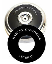 "Harley-Davidson VETERAN 8"" Round Air Cleaner Filter Cover Insert Vinyl Decal Evo"