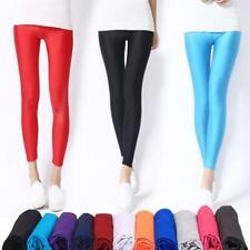 NWOT Skinny Pants Leggings 50/'s Dance Shiny Streetwear Retail $28 Spandex Wht Bl