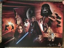 Star Wars Brian Rood Double-Sided 18x24 Poster SIGNED