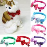 Haustier Bogen Halsbänder Katze Hund Halsbänder Katzen und Hundezubehör Q9G7