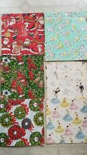 Lot Of Vintage Christmas Easter Wedding Holiday Wrapping Paper 10 Sheets